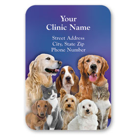Full-Color Veterinary Magnets - Family Portrait