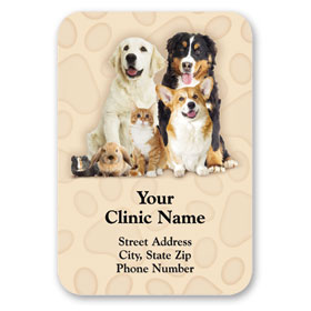Full-Color Veterinary Magnets -  Welcome Buddies
