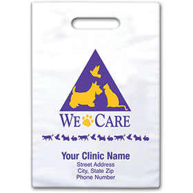 "Personalized Vet Supply Bags - 9"" X 12"" - Bag Design 04B"