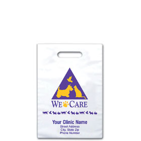 "Personalized Vet Supply Bags - 9"" X 9"" - Bag Design 04B"