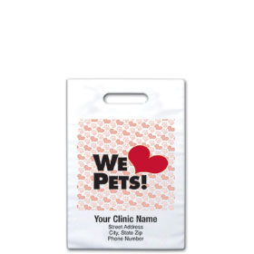 "Personalized Vet Supply Bags - 8"" x 9""  - Bag Design 07B"