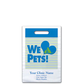 """Personalized Veterinary Supply Bags - 7 1/2"""" X 9"""" - Dsg 20B"""