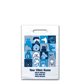 "Personalized Vet Supply Bags - 9"" X 9""  - Bag Design 34B"