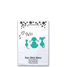 "Personalized Vet Supply Bags - 8"" X 9"" - Bag Design 36B"