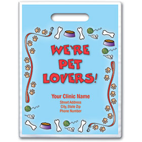 """Personalized Full-Color Vet Supply Bags - 9"""" X 12"""""""