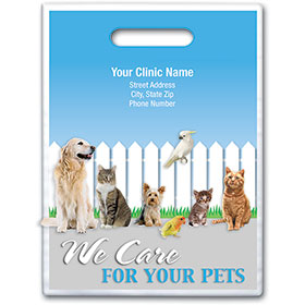 "Personalized Full-Color Vet Supply Bags - 9"" X 12"""