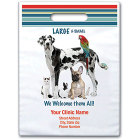 "Personalized Full-Color Vet Supply Bags - 9"" X 12"" - Bag Design 1133"