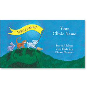 Full-Color Veterinary Magnetic Business Cards - Welcome Banner