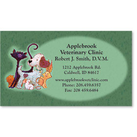 Full Color Magnetic Business Card-Furry Friends