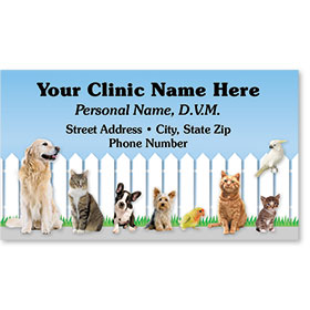 Full Color Magnetic Business Card-Friendly Fence