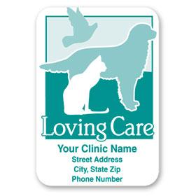 Standard Veterinary Magnet - Loving Care
