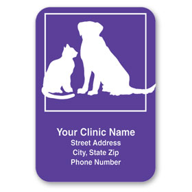 Standard Veterinary Magnet - Cat & Dog