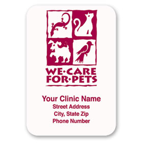 Standard Veterinary Magnet - We Care for Pets