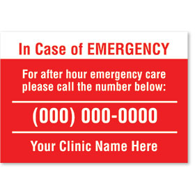 Standard Veterinary Magnet - Emergency Care