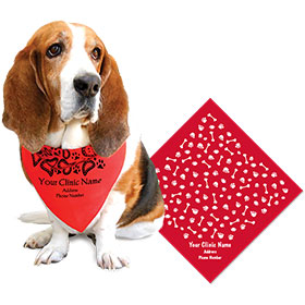 Large Square Personalized Pet Bandannas