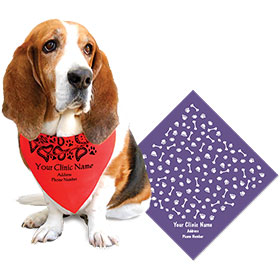 Small Square Personalized Pet Bandanas