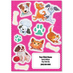 Pet Shaped Stickers - Cat & Dog