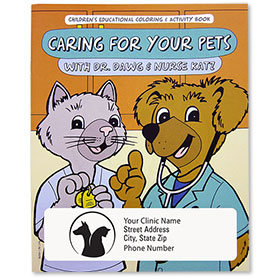 Pet Care Coloring Book