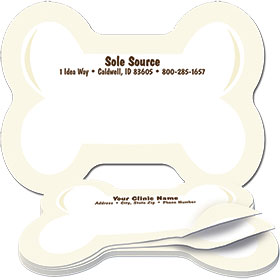 Veterinary Bone Shaped Sticky Notepads