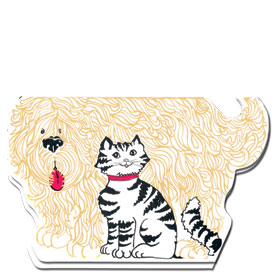Veterinary Welcome Cards - Shaggy Dog & Cat