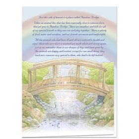 Premium Pet Sympathy Cards - Rainbow Bridge II