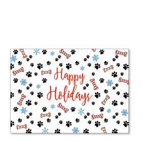 3-Up Laser Veterinary Holiday Postcards - Bright Lights