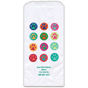 "Personalized Paper Pharmacy Bags - 5"" x 2 1/2"" x 10"" - Bag Design 42"
