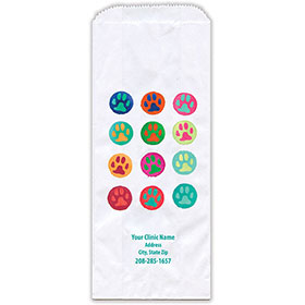 "Personalized Paper Pharmacy Bags - 5"" x 2"" x 12"" - Bag Design 42"