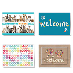Full-Color Pet Welcome Cards Assortment Pack - 01