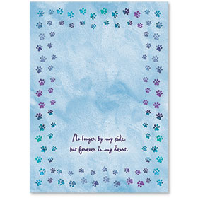 Stamp-able Memorial Paw Print Insert - 01