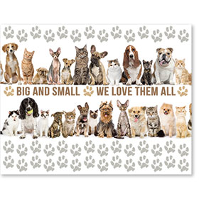 "11"" x 14"" Wall Art Poster - We Love All Pets"