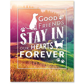 "11"" x 14"" Wall Art Poster - Good Friends Forever"