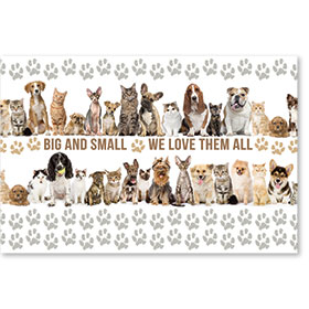 "12"" x 18"" Wall Art Poster - We Love All Pets"