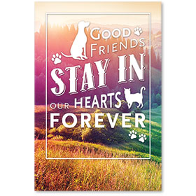 "12"" x 18"" Wall Art Poster - Good Friends Forever"