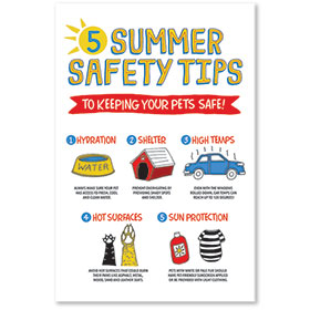"""12"""" x 18"""" Informational Poster - Summer Safety Tips"""