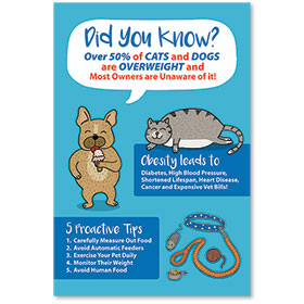 "12"" x 18"" Informational Poster - Healthy Pet Tips"