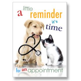 4-Up Laser Veterinary Postcards - Lab Test