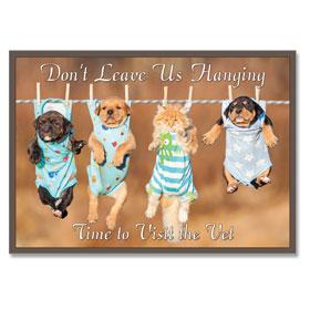 4-Up Laser Veterinary Postcards - Clothesline