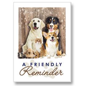 4-Up Laser Veterinary Postcards - Reminder Animals