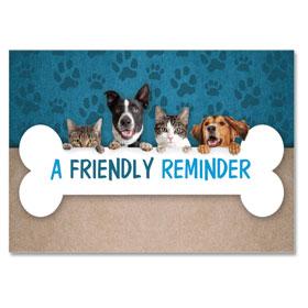 4-Up Laser Veterinary Postcards - Peek-A-Boo