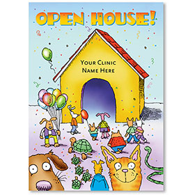 Standard Veterinary Postcards - Open House