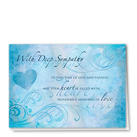 Full-Color Medical Sympathy Cards - Harmony Blues