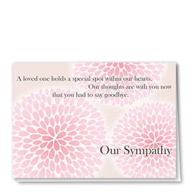 Full Color Sympathy Card-So Long Blossoms