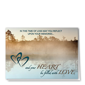 Full Color Sympathy Card-Lakeside Memories