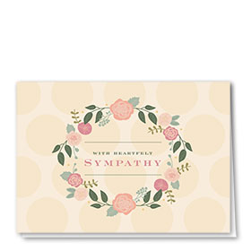 Full Color Sympathy Card-Perfect Petals