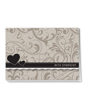 Full Color Sympathy Card-Somber Shades