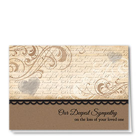 Full Color Sympathy Card-Chestnut Swirls