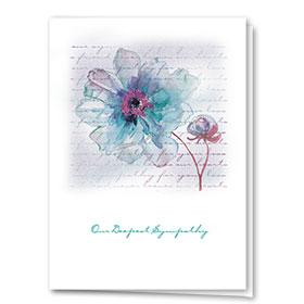 Full Color Sympathy Card-Layers of Friendship