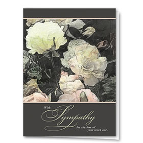 Full Color Sympathy Card-Delicate Rose