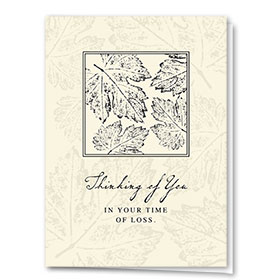 Full-Color Medical Sympathy Cards - Leaf Imprint